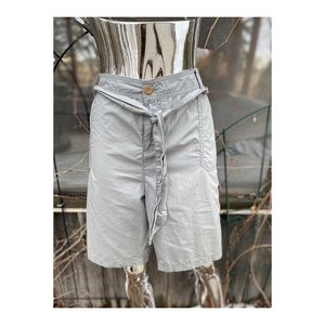 Sears Grey Cargo Shorts Cotton Belted